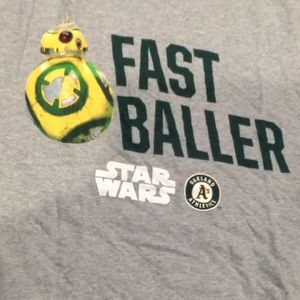 """Oakland A""""s t-shirt Size-M or L Star Wars"""
